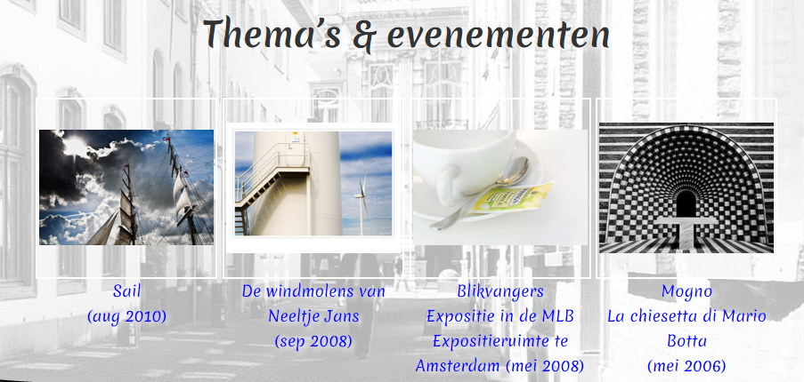 2016-03-24 Screenshot albums thema's en evenementen